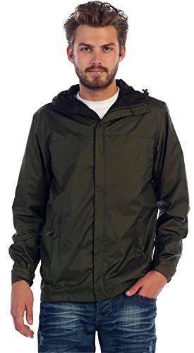 Gioberti Men's Waterproof Rain Jacket, Olive, L ()