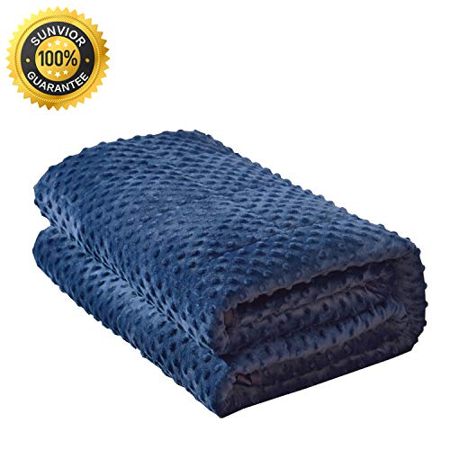 Cheap SUNVIOR Weighted Blanket & Heavy Blanket Cotton and Flannelette Material with Glass Beads 59