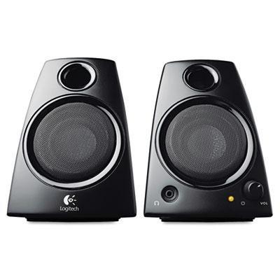 Logitech Z130 2.0 Speaker System - 5 W RMS - Desktop - Black (Logitech Z130 Stereo Speakers)