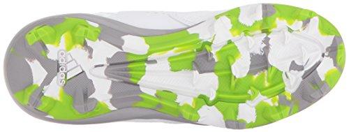 Adidas Styrehus 4 Børn Baseball Klampen Hvid / Lys Onix / Semi Sol Grøn PJd1SCS