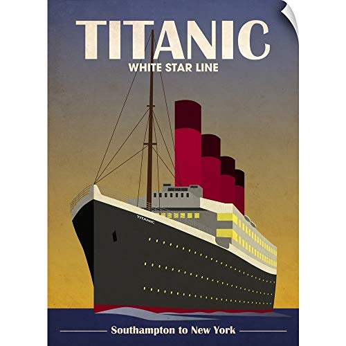 CANVAS ON DEMAND Titanic Ocean Liner Art Deco Wall Peel Art Print, 17