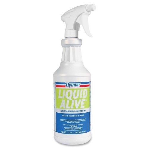 Dymon Liquid Alive Odor Digester - Liquid Solution - 32 fl oz (1 quart) - White