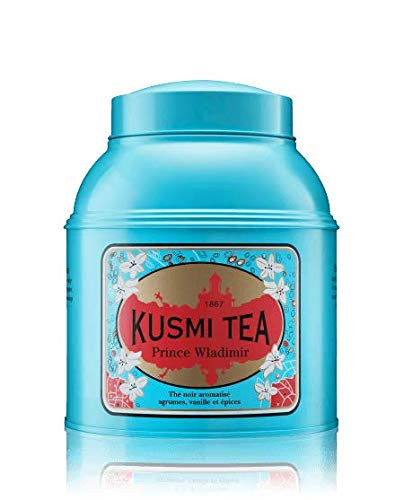 Kusmi Tea - Prince Vladimir - Russian Black Tea Blend with Vanilla, Bergamot & Other Spices - 17.6oz of All Natural, Premium Loose Leaf Black Tea in Eco-Friendly Metal Tin (200 Servings) by KUSMI TEA