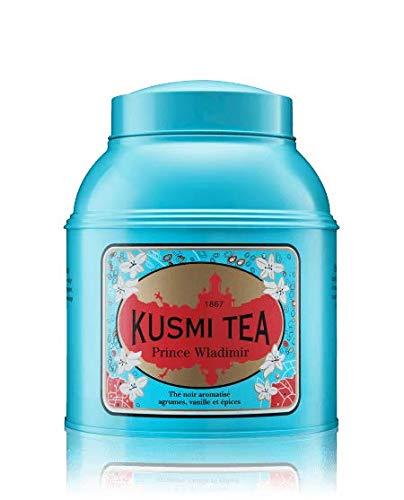 Kusmi Tea Prince Vladimir Russian Black Tea - Orange Peel, Grapefruit, Lime and Essential Oils of Bergamot Infusion Unforgettable Taste (17.6oz Metal tin)