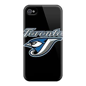AlainTanielian Apple Iphone 4/4s Shockproof Hard Cell-phone Case Support Personal Customs Beautiful Baseball Toronto Blue Jays 1 Pattern [pxf25826Lygl]
