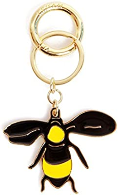 CJH Llavero pequeño y lindo de la abeja Llavero del coche de ...