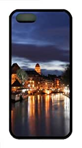 Beautiful city at night 04 Custom iPhone 5s/5 Case Cover ¡§C TPU ¡§C Black