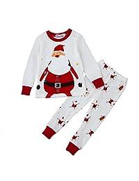 Lavany 2PCS Christmas Pajamas Set Toddler Baby Boys Girls Tops+Pants Home Clothes