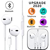 SpeedSocpe Earphones,Headphone Wired Earphones Headset with Microphone and Volume Control, Compatible with iPhone 11 Pro Max/Xs Max/XR/X/7/8 Plus (White)(1PACK)