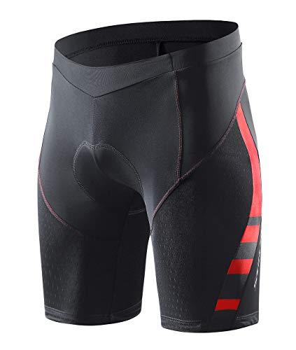 Santic Bicycle Shorts for Men Black 4D Padded Bike Shorts and Cycling Shorts Quick-Dry Half Pants US M/CN XL
