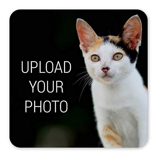 Custom Pet Photo Upload Magnet: Square Plastic Magnet ()