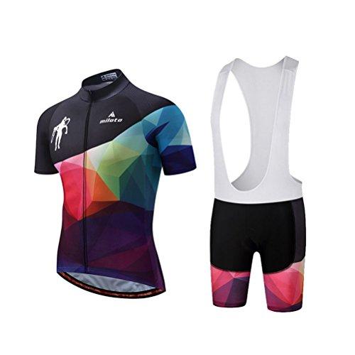 Uriah Mens Cycling Bib Shorts Black 3D Coolmax Gel Padded