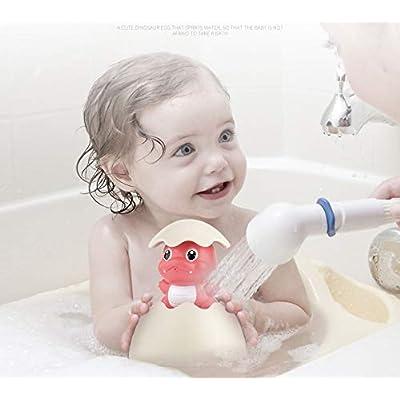 DeerBB Children Bath Toys Rain Clouds Play Dinosaur Eggshell Baby Bathroom Floating Sprinkler Water Spray EggsShower Toy (Pink): Toys & Games