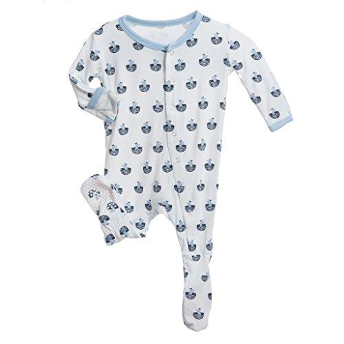 KicKee Pants Baby Boys Footie Pajama- Boy Baby Bird, 6-12 Months