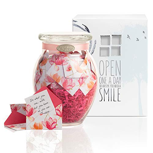 (KindNotes Glass Keepsake Gift Jar with GET Well Messages - Watercolor)