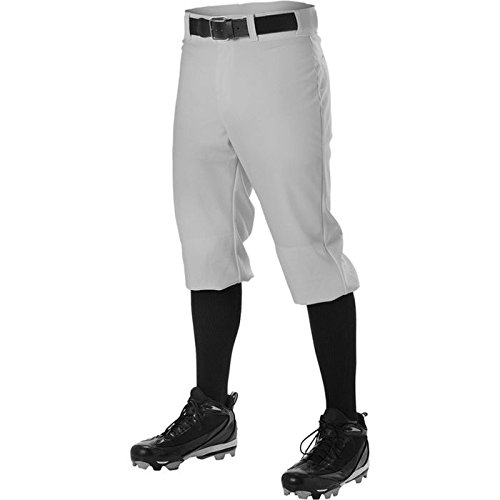 (Alleson Youth Knicker Baseball Pant Gray Large)