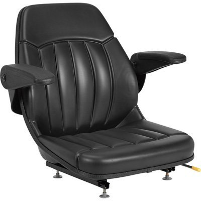 Michigan Seat All-Weather Seat with Armrests - Black, Model# V-930 ()