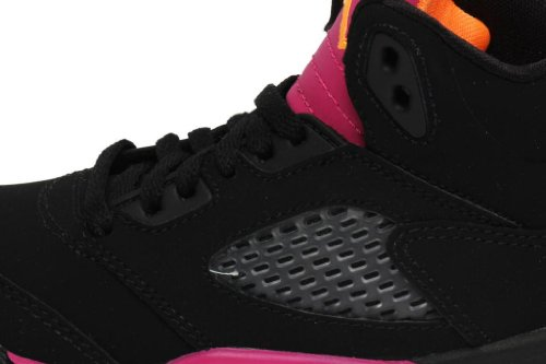 a196e150ed04 Nike Air Jordan 5 Retro (PS) Girls Basketball Shoes 440893-067 Black ...