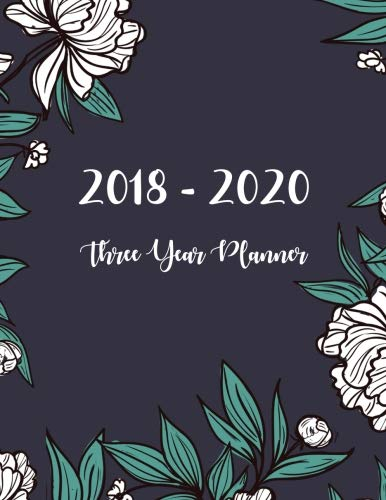 2018 – 2020 Three Year Planner: Monthly Schedule Organizer – Agenda Planner For The Next Three Years, 36 Months Calendar, Appointment Notebook, … Year Monthly Calendar Planner) (Volume 1)