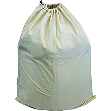 Green Earth Bags 3 PACK Extra Large Cotton Canvas Laundry Bag, 28  x 36   with Drawstring Closure, Washable