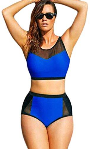 Yonas Women's Indigo Scuba Swimsuit Plus Size Sexy Bikini(SIZE XXXXXL)