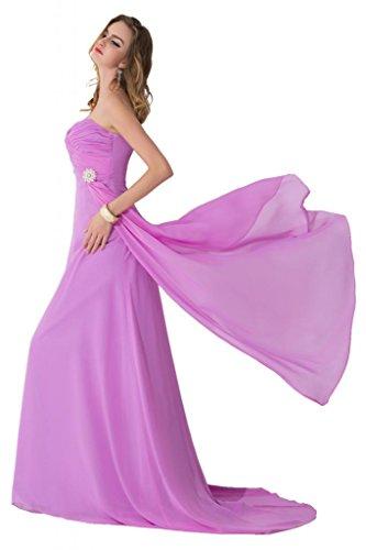 sunvary Gorgeous Spaghetti Strap Crystal bridemsiad de gasa vestidos de novia elegante azul real