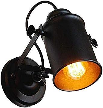 Retro Industrielle Wandleuchte Schwarz Vintage Wandlampe Innen  Industrielampe Strahler Schwenkbar Metall Wandleuchten Deckenlampe für Flur  ...