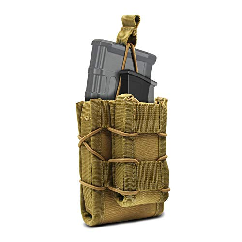 YDA Double Mag Pouch Molle Mag Pouch Open-Top Rifle Pistol Mag Pouch Hunting Bag for M4 M16 AR15 Magazines