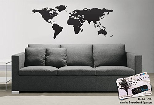 world map decal - 4