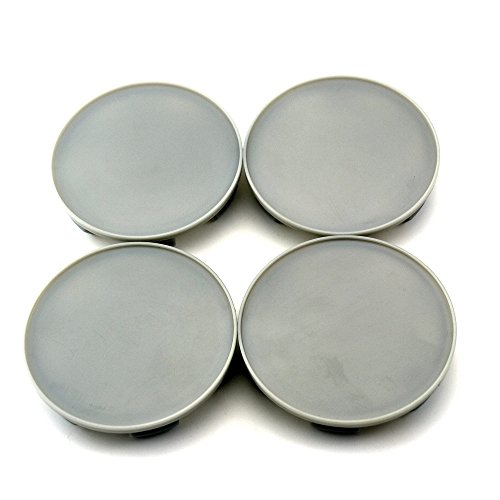 70mm (Maximum Diameter) Gray ABS Car Wheel Center Hub Caps Base Set of 4