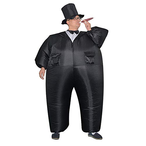 HUAYUARTS Inflatable Costume Bridegroom Game Cloth Adult Funny Blow up Suit Halloween Men's Costume Black Cosplay, Plus Size ()