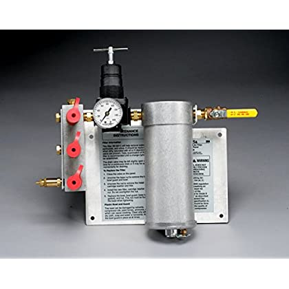 Image of 3M Compressed Air Filter and Regulator Panel W-2806/07006(AAD), 50 cfm, 3-5 outlets 1 EA/Case Home Improvements