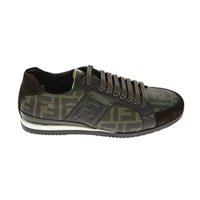 FENDI Sneakers Uomo 7E0748H5LF0EXR Camoscio Marrone: Amazon