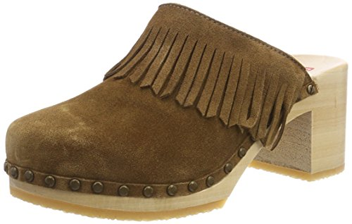 Women's Brown Cloé Clogs Brown Berkemann gq0wRaq