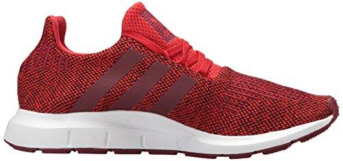 Hombre Run Textile Entrenadores Red Swift collegiate white Adidas Burgundy Swfdaa