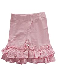 Baby Little Girls Short Toddler Ruffle Solid Cotton Pants