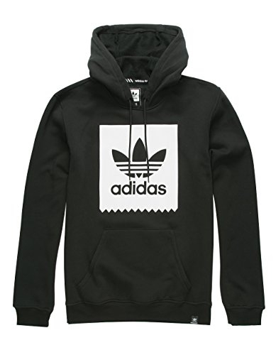 Price comparison product image adidas Originals Men's Blackbird Basic Hoodie, Black/White, X-Large
