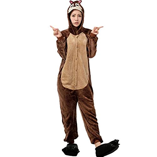 saideng unisex anime pokemon kigurumi costumes pajama cosplay outfit homewear xl chipmunk