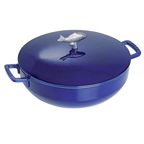Staub Bouillabaisse Pot, Dark Blue, 5 qt.