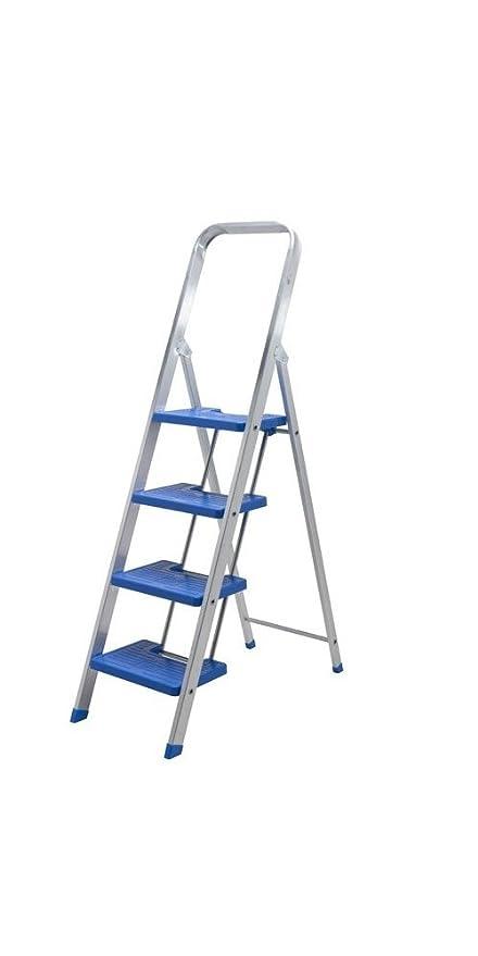Escalera aluminio peldaño ancho (6 peldaños)