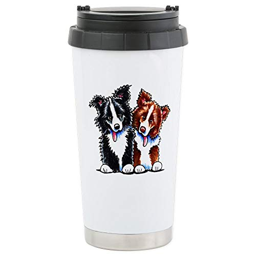 Border Collie Merchandise - CafePress Little League Border Collies Stainless Steel Trave Stainless Steel Travel Mug, Insulated 16 oz. Coffee Tumbler