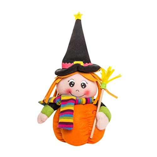 Tosangn Pumpkin Girl Dolls Halloween Children Toy