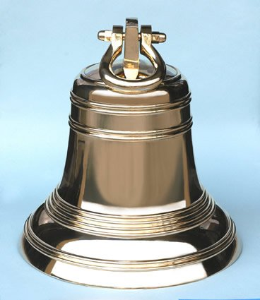 18'' Solid Brass Nautical Ship's Bell by Brass Binnacle