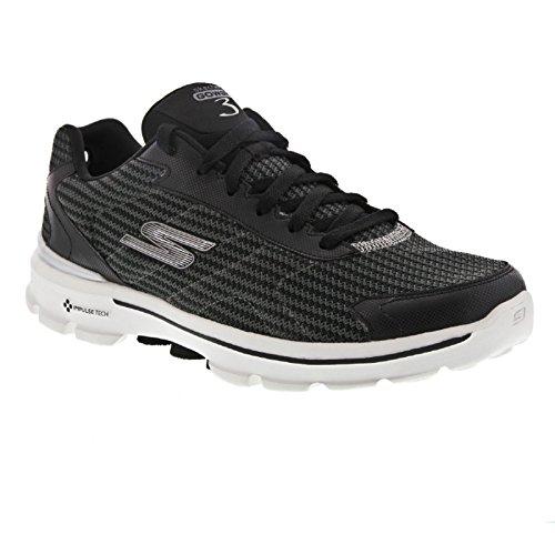 Skechers Go Walk 3 Fit Knit - Zapatillas De Deporte Hombre Blanco/Negro