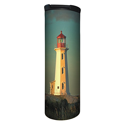 - Tree-Free Greetings BT21931 Barista Tumbler Vacuum Insulated, Stainless Steel Travel Coffee Mug/Cup, 17 Ounce, Lighthouse Point