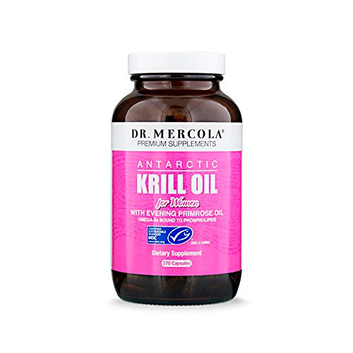 Dr. Mercola, Antarctic Krill Oil for Women with Evening Primrose Oil, 90 Servings (270 Capsules),...