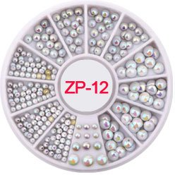 Nail Art Accessories - Rhinestones For Nails Rhinestones For Crafts - 3D Nail Charms s/2-4.7mm Rhinestone in Wheel Design Stone Decorations Strass Jewelry DIY Nail art Adhesive Rhinestones Mix - 12 -