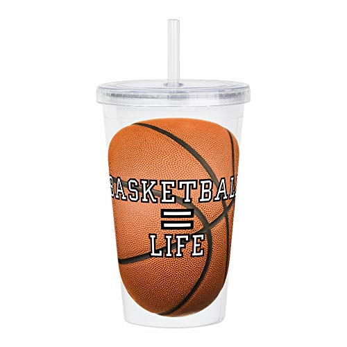 - Acrylic Insulated Water Bottle Cup Basketball Equals Life