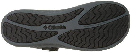 Sandalo Atletico Da Donna In Pelle Di Caprizee Color Nero / Grafite