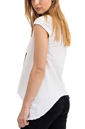 Vintage Casual Rock Corta Fit Ropa Vestir shirt Manga Fashion Redondo Retro Urban Cuello Mujer Camiseta T Estampado Moda Cool White Designer Marca Slim Trueprodigy 08adwXx0